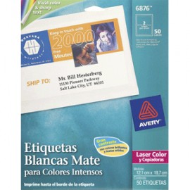 ETIQUETAS LASER AVERY COLOR MATE CON 50