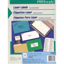 ETIQUETAS LASER PRESS PLY ACERY 1X2 5/8 CON 3000