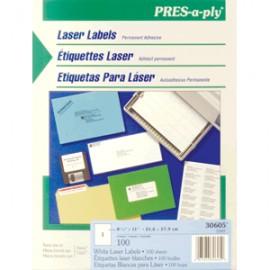 ETIQUETAS LASER PRESS-PLY CARTA AVERY BLANCAS 100