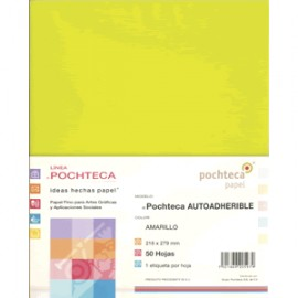 PAPEL AUTOADHERIBLE POCHTECA CARTA AMARILLO C/50