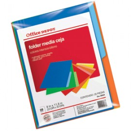FOLDERS CARTA OFFICE DEPOT VARIOS COLORES CON 25