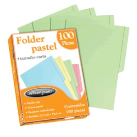 FOLDER CARTA WILSON JONES VERDE CON 100 PIEZAS