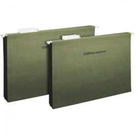 FOLDER COLGANTE OFICIO OFFICE DEPOT VERDE CON 25
