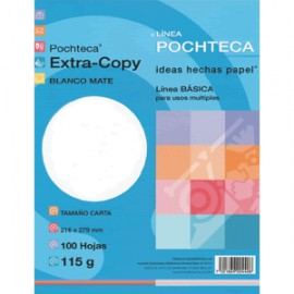 PAPEL EXTRA COPY BLANCO MATE CON 100 POCHTECA 115 GR