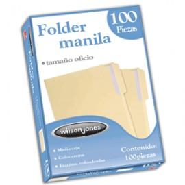 FOLDER OFICIO WILSON JONES MANILA CON 100 PIEZAS