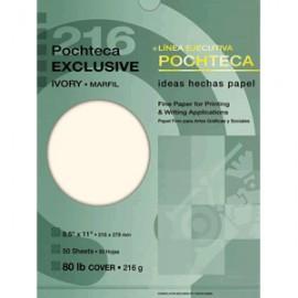 PAPEL EXCLUSIVE MARFIL 216 GR CON 50 POCHTECA