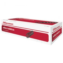 CAJA DE ARILLO METALICO OFFICE DEPOT 1/4 NEGRO