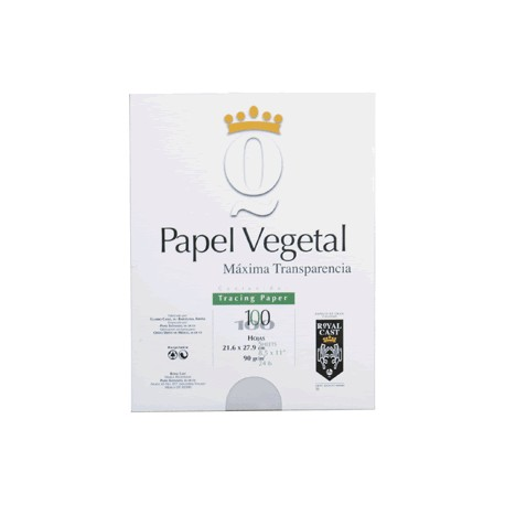 PAPEL VEGETAL CARTA BLANCO 100 HOJAS ROYAL CAST