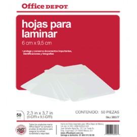 MICAS TERMICAS OFFICE DEPOT 6X9.5 CM CON 50 PIEZAS