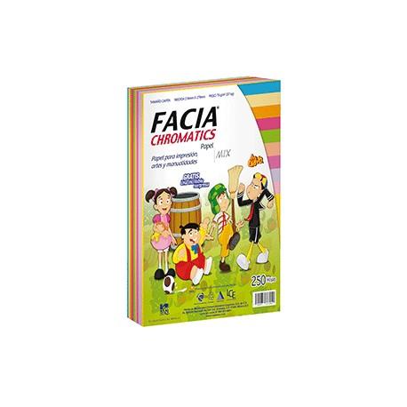 PAPEL CHROMATICS 10 COLORES CON 250 FACIA