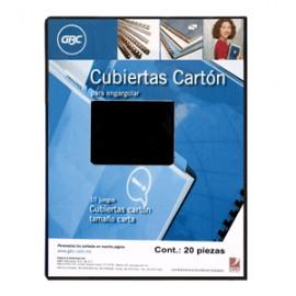 CUBIERTA DE CARTON GBC COLOR NEGRO CON 20 PIEZAS