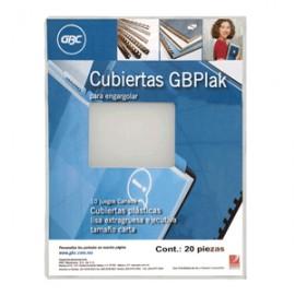 CUBIERTA GBPLACK GBC LISA TRANSPARENTE C/20 PIEZAS
