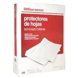 PROTECTOR DE HOJAS OFFICE DEPOT BRILLANTE CON 200