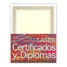 CERTIFICADO COLOR DORADO CON 50