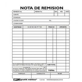 NOTA DE REMISION GRAFIX DUP 1/4 CARTA 4/20JGS