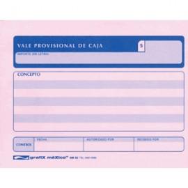 VALE PROVISIONAL DE CAJA GRAFIX 3 PAQUETES CON 50