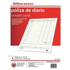 POLIZA DIARIO OFFICE DEPOT 50 HOJAS