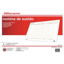 NOMINA SUELDO OFFICE DEPOT 25 HOJAS