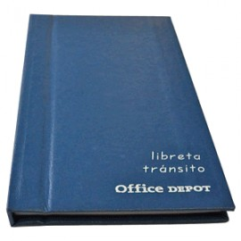 LIBRETA DE TRANSITO OFFICE DEPOT
