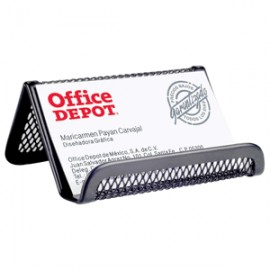 PORTATARJETAS MESH COLOR NEGRO OFFICE DEPOT