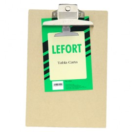 TABLA CON CLIP LEFORT TAMANO CARTA