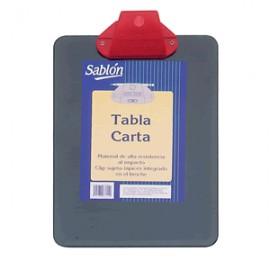 TABLA CON CLIP PLASTICA SABLON CARTA COLOR NEGRO