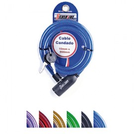 CABLE CANDADO SILVERLINE 10X900 MM