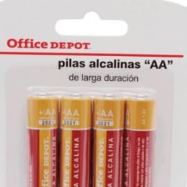 PILA ALCALINA AA OFFICE DEPOT PAQUETE CON 4