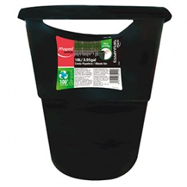 BOTE DE BASURA MAPED 18L ESSENTIAL GREEN