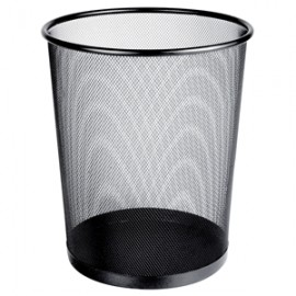BOTE DE BASURA OFFICE DEPOT MESH COLOR NEGRO