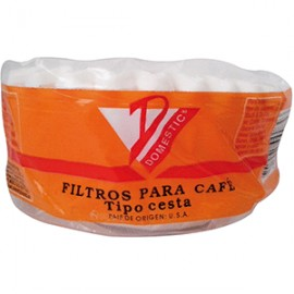 FILTRO PARA CAFE DOMESTIC CESTA CON 50 PIEZAS
