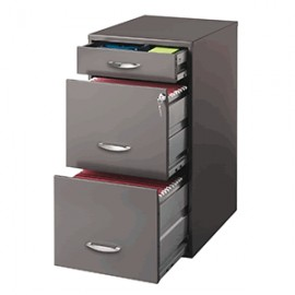 ARCHIVERO OFFICE DESIGNS 3 GAVETAS CHARCOAL