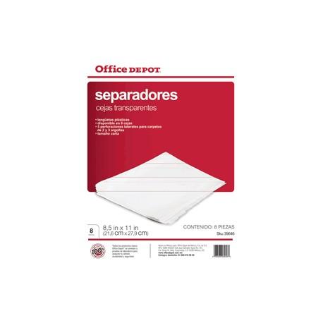 SEPARADORES INDICE OFFICE DEPOT 8 DIVISIONES