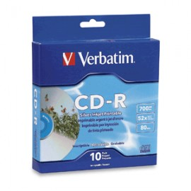 CD-R VERBATIM INKJET PRINT 700MB 80MIN 52X 10 PIEZ