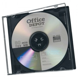 ESTUCHE DELGADO PARA CD/DVD OFFICE DEPOT CON 40 PZ