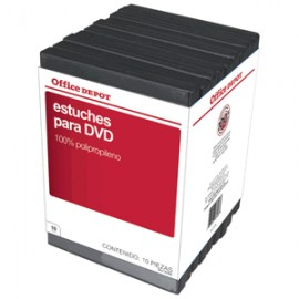 ESTUCHES PARA DVD OFFICE DEPOT CON 10 PIEZAS