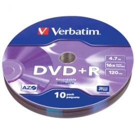 DVD- R VERBATIM BULK WRAP 4.7GB 10 PIEZAS