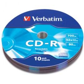 CD-R VERBATIM 52X BULK WRAP 10 PIEZAS