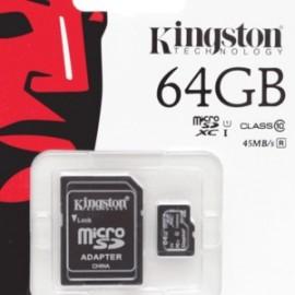 MICRO SD KINGSTON 64GB CLASE10