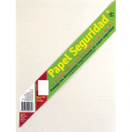 PAPEL SEGURIDAD LASER/INKJET CON 40 HOJAS CARTA
