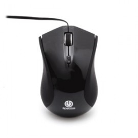 MOUSE ALAMBRICO SPECTRA MINI RETRACTIL NEGRO