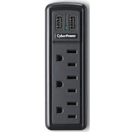 SUPRESOR CYBERPOWER 918 DE 3 ENTRADAS CON 2 USB