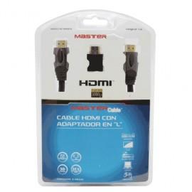 CABLE HDMI MASTER PREMIUM (1M, ADAPTADOR L)