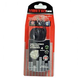 CABLE TELEFONICO MASTER PLANO 4.0 METROS NEGRO