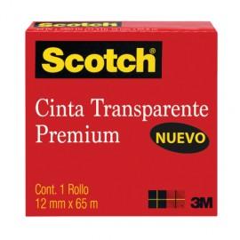 CINTA TRANSPARENTE 12MM X 65M