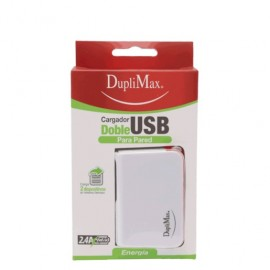 CARGADOR DUPLIMAX PARED CON 2 SALIDA USB DE 2.4 A
