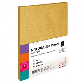 BOND NATURAL YUTE 118 GRAMOS TAMANO CARTA 60 HOJAS