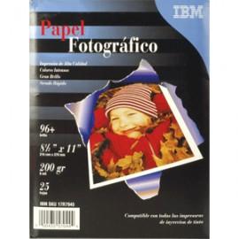 PAPEL FOTOGRAFICO ALTO BRILLO CARTA 25 HOJAS IBM