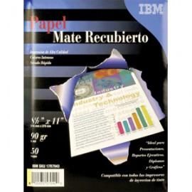 PAPEL FOTOGRAFICO MATE CARTA 50 HOJAS IBM