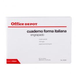 CUADERNO ITALIANA ENGRAPADO CUADRO GDE 100 HOJAS